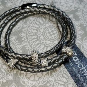 Liza Schwartz Charm Triple Wrap Bracelet